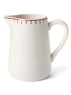 Porcelain Stitching Pitcher
