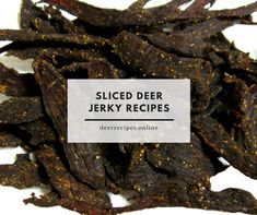 Deer Recipes top four sliced deer jerky recipes along with lots of photos to help you learn how to make your own venison jerky. Deer Jerky Recipe, Venison Jerky Recipe, Jerky Marinade, Venison Recipes, Venison Burgers, Venison Steak, Simple Baked Beans Recipe, Jerkey Recipes, Deer Recipes