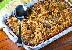 Baked Cream Cheese Spaghetti  #spaghetti #casserole #pasta @gonnawantseconds