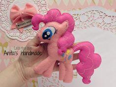 Filcowa maskotka Kucyk Pony Pinkie Pie #filc #felt #fieltro #feltro #mylittlepony #pinkiepie