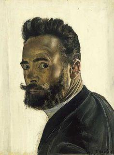 Ferdinand Hodler, Self-portrait, 1891, Oil on wood, 29 x 23 cm, Musée d'Art et d'Histoire, Genève