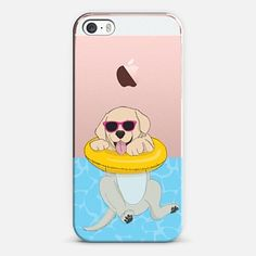 Swimming Yellow Labrador
