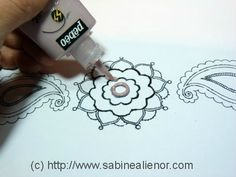 Making a  polymer stamp texture with dimensional paint  #Polymer #Clay #Tutorials