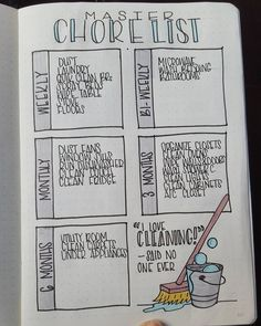 Master Chore List - Bullet Journal