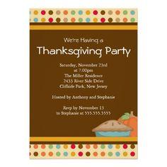 Modern Thanksgiving Dinner Party Invitation