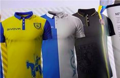 Chievo's kits for the 2015-16 season.