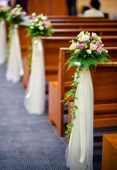 church wedding decorations - Google Search | wedding church ...