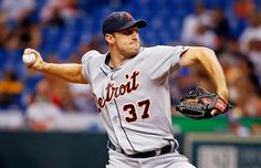 TIGERS WIN! Max Scherzer improves his record to 12-0 and Miggy and Prince both homer as the Tigers take game one of the series 6-3.