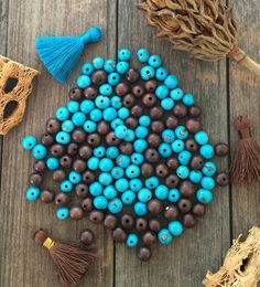 Turquoise Truffle Mix: Real Natural Acai Beads Fair by NatureBeads