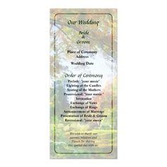 Autumn Vista Wedding Program by Susan Savad -- Autumn wedding program that you can customized yourself.  #wedding  #weddingprogram #weddingprograms #gettingmarried #customize #autumn #fall   $0.55  per card   BULK PRICING AVAILABLE!