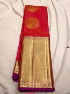Phulkari Saree, Kanjivaram Sarees, Kanchipuram Saree, Indian Silk Sarees, Indian Beauty Saree, Indian Wedding Outfits, Indian Outfits, Saree Wedding, Bridal Sari