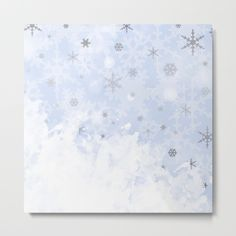 #wallart #snow #winter #snowflake #pastelblue #metalprint