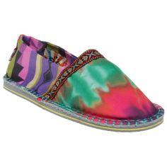 New Womens Tigerbear Republik Blue Multi Hicky Textile Shoes Espadrilles Slip On Espadrille Shoes, Espadrilles, Cute Casual Shoes, Retro Fashion, Footwear, Bohemian, Slip On, Textiles, Best Deals