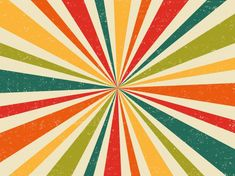 Fresh Colours Retro Burst Vintage Background
