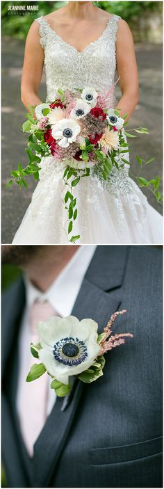 Bridal bouquet and groom's boutonniere designed by A 2 Zinnia Floral + Gifts in New Ulm, MN. Photos by Saint Paul wedding photographer Jeannine Marie Photography. #a2zinniafloralandgifts #augustschellbrewery #wedding #mnwedding #weddingfloral #bridalbouquet #boutonniere #flowers #floral #saintpaulweddingphotographer #minnesotaweddingphotographer #wedding #jeanninemariephotography