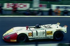 Gérard Larrousse in a Gulf Porsche 908/2 at the 1000 Kms 1970