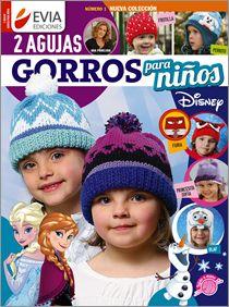 GORROS para NIÑOS dos agujas Nº 01 - 2016