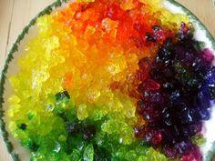Beautiful shiny rainbow crystals
