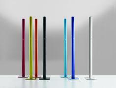 #Ilio floor lamps #Design Ernesto Gismondi. Red, Yellow, Orange, Black, Light Blue, Blue and White finishes. #Led source