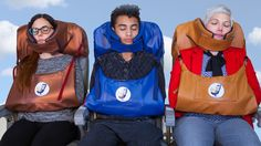 You don't need another neck pillow.  You need Nap-Rite, a product that addresses your head, neck and arm comfort when you fly coach.