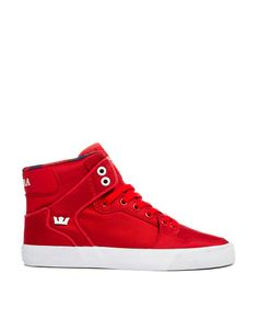 774ae272afb Supra Vaider Red High Top Trainers Red High Tops