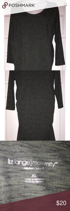 Liz Lange Maternity Dress Ruched sides, knee length, heather gray, comes from a smoke free home. Liz Lange for Target Dresses Midi