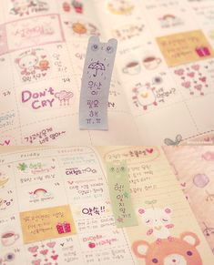 Cute Korean Planner and Sticky Post-It