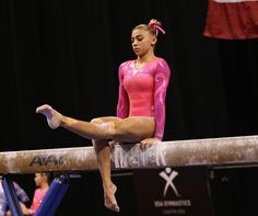 Pink Competitive Leotard Worn by Ashton Locklear at the 2015 US Championship