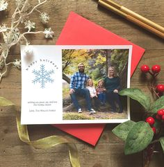 5 x 7 Custom Digital or Print Happy Holidays Christmas Greeting/ Photo Christmas Greeting Card/ FREE SHIPPING by ArtPaperScissorsGlue on Etsy