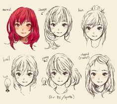 Adorable girl drawing with red hair