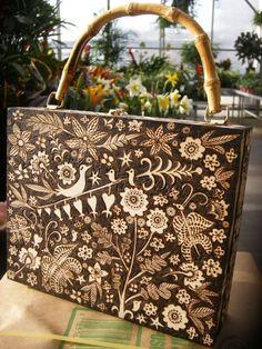 pyrography purse