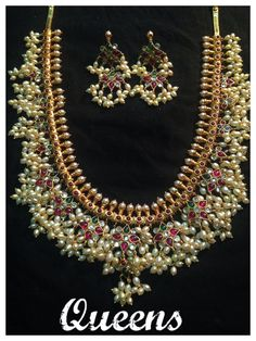 Gorgeous gutta pusalu necklace for Telugu wedding Indian Bridal