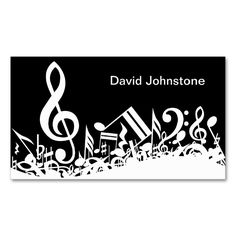 Personalized White Jumbled Musical Notes on Black Double-Sided Standard Business Cards (Pack Of Make your own business card with this great design. All you need is to add your info to this template. Click the image to try it out! Black Business Card, Modern Business Cards, Business Card Design, Musician Business Card, Notes Template, Card Templates, Visiting Card Design, Notes Design, Music Notes
