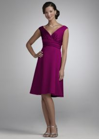 Bridesmaid Dresses by Color by David's Bridal - sangria - possible option!