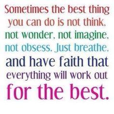 You gotta have faith.