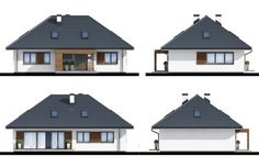 Projekt domu Zacisze IV 107.48 m² - Domowe Klimaty Home Fashion, Gazebo, Outdoor Structures, Cabin, House Styles, Home Decor, Log Projects, Kiosk, Decoration Home