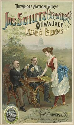 The whole nation enjoys Jos Schlitz Brewing Cos' Milwaukee lager beer