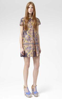 Shop Paisley Shantung Shirt Dress by Carven for Preorder on Moda Operandi
