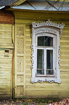traditional decorative carved wood window frame, rostov, russia | architectural details #nalichniki
