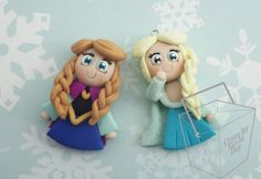Frozen Princess Princess Elsa Polymer Clay by CrunchySushiDay, $7.00