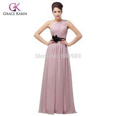Cheap long Bridesmaid Dresses Purple Pink Yellow Wedding dress 2017, Chiffon Prom Dress under 50 party dress women Vestido longo