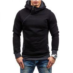 59ddf9b7b67 2017 Fashion Hoodies Men Sudaderas Hombre Hip Hop Mens Brand Solid hooded  zipper Hoodie Cardigan Sweatshirt Slim Fit Men Hoody -