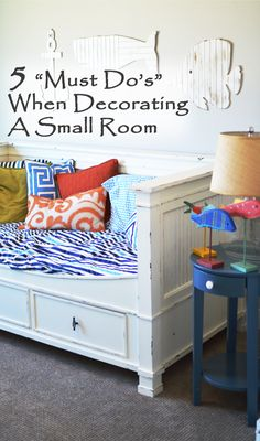 When you're decorating a small room or area, there are a few ways that you can make the space usable without making it seem cramped. Use these tips tocreate an area that you love. 1. Color is impo...