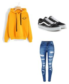 """Untitled #5"" by haileymagana on Polyvore featuring WithChic and Vans"