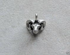 Sterling Silver Aries Ram Head Charm