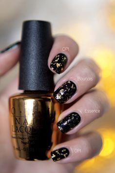 Look a like OPI The Man With The Golden Gun, Budget!   Essence & Bourjois, OPI dupes? ~ Beautyill   Beautyblog met nail art, nagellak, make-up reviews en meer!