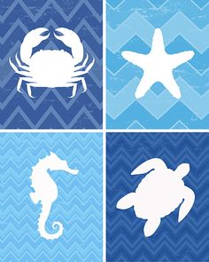 Ocean Animal FREE Printables {set of 4} - How to Nest for Less™
