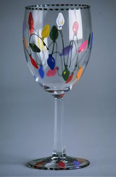 Hand Painted Glassware - Wine & Martini Glasses & Champagne Flutes - Cheese Platters & Plates & Mugs