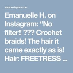 """Emanuelle H. on Instagram: """"No filter!! ☺️💁 Crochet braids! The hair it came exactly as is! Hair: FREETRESS Island Twist 20"""" 🌸🌸🌸🌸🌸🌸🌸 #DiscoverMySelfieMP"""""""
