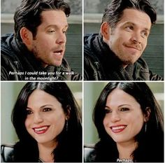 Robin and Regina. She's so happy! I was so nervous the entire last ten minutes waiting for something to swoop in and ruin her life- and she actually made it out okay! Thanks Emma!